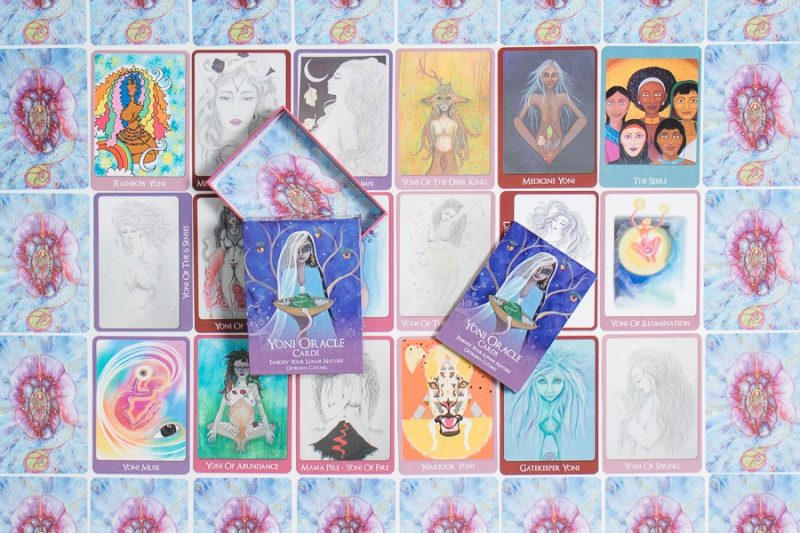 yoni oracle cards laid out